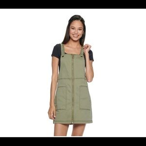 Green overall dress